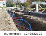 Laying A Fiber Optic Cable For...