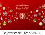 christmas background with... | Shutterstock .eps vector #1246834702