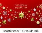 christmas background with... | Shutterstock .eps vector #1246834708