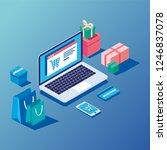 online shopping concept | Shutterstock .eps vector #1246837078