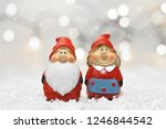 santa claus and his wife.... | Shutterstock . vector #1246844542