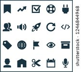interface icons set with show ... | Shutterstock . vector #1246844968