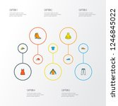 garment icons colored line set... | Shutterstock .eps vector #1246845022