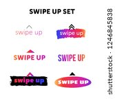 swipe up icon set isolated on... | Shutterstock .eps vector #1246845838