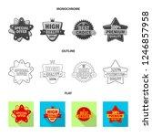 vector illustration of emblem... | Shutterstock .eps vector #1246857958