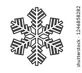snowflake line icon. beautiful... | Shutterstock .eps vector #1246858282