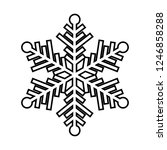 snowflake line icon. beautiful... | Shutterstock .eps vector #1246858288