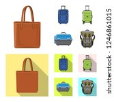 isolated object of suitcase and ...   Shutterstock .eps vector #1246861015