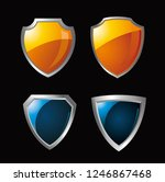 set of protected guard shield... | Shutterstock .eps vector #1246867468