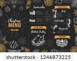 hand drawing christmas holiday... | Shutterstock .eps vector #1246873225