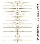 vintage border and divider set... | Shutterstock .eps vector #1246874995