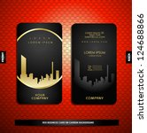 black with gold business card... | Shutterstock .eps vector #124688866