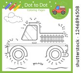 dot to dot drawing worksheets.... | Shutterstock .eps vector #1246896508
