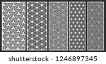 decorative laser cut vector set | Shutterstock .eps vector #1246897345