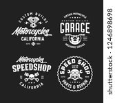motorcycles california t shirt... | Shutterstock .eps vector #1246898698