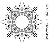 round calligraphic lotus border ... | Shutterstock .eps vector #124690576