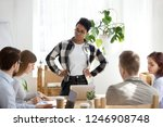 serious african american female ... | Shutterstock . vector #1246908748