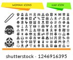 vector icons pack of 120 filled ... | Shutterstock .eps vector #1246916395