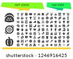 vector icons pack of 120 filled ...   Shutterstock .eps vector #1246916425