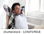 peaceful african american... | Shutterstock . vector #1246919818