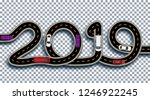 2019 new year. the road is... | Shutterstock .eps vector #1246922245