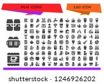 vector icons pack of 120 filled ... | Shutterstock .eps vector #1246926202