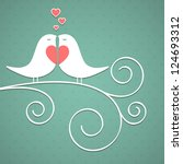 valentine's background with... | Shutterstock . vector #124693312