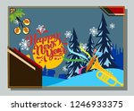 happy new year greeting card... | Shutterstock .eps vector #1246933375