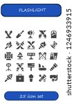 vector icons pack of 25 filled... | Shutterstock .eps vector #1246933915