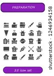 vector icons pack of 25 filled...   Shutterstock .eps vector #1246934158