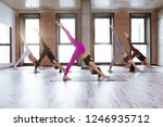 yoga and fitness class of multi ... | Shutterstock . vector #1246935712