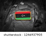 flag of libya on soldiers arm ... | Shutterstock . vector #1246937905