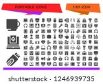vector icons pack of 120 filled ... | Shutterstock .eps vector #1246939735