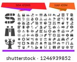 vector icons pack of 120 filled ... | Shutterstock .eps vector #1246939852