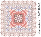 decorative colorful ornament on ... | Shutterstock .eps vector #1246940542