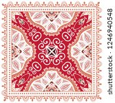 decorative colorful ornament on ... | Shutterstock .eps vector #1246940548