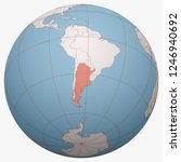 argentina on the globe. earth...   Shutterstock .eps vector #1246940692