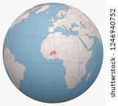 burkina faso on the globe.... | Shutterstock .eps vector #1246940752
