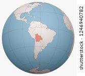 bolivia on the globe. earth...   Shutterstock .eps vector #1246940782