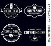 set of coffee shop logotype... | Shutterstock .eps vector #1246941325