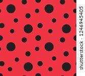 Ladybug Seamless Vector Pattern....
