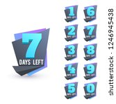 day to go numbers. days left... | Shutterstock .eps vector #1246945438