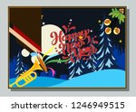 happy new year greeting card... | Shutterstock .eps vector #1246949515