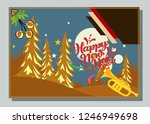 happy new year greeting card... | Shutterstock .eps vector #1246949698