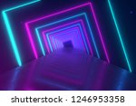 abstract motion geometric... | Shutterstock . vector #1246953358