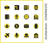 trade icons set with office...   Shutterstock .eps vector #1246960192