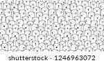bear seamless pattern vector... | Shutterstock .eps vector #1246963072