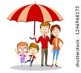 family care and protection...   Shutterstock .eps vector #1246968175