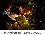 three kids  two toddler boys... | Shutterstock . vector #1246969222