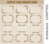 vector set of decorative ornate ... | Shutterstock .eps vector #124697452